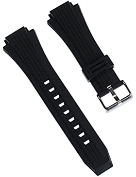 Calypso Uhrenarmband Outdoor Armband-Material PU schwarz für Calypso K5629 Uhren