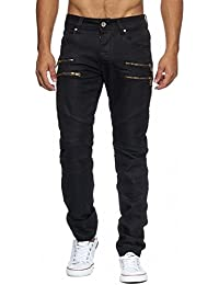 ArizonaShopping - Jeans Men's Trousers Coated Clarence Bikers Regular Fit (Stretch) H1952