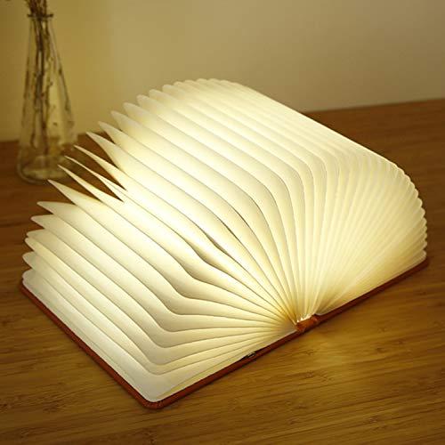 Raing LED-Papierbuch Licht kreatives Schlafzimmer Bedside nachtlicht Klapptisch Lampe Lehrer-Tag Geschenk kinderzimmerdekoration Ornamente Schreibtisch Lampen - Lehrer Geschenke Schreibtisch