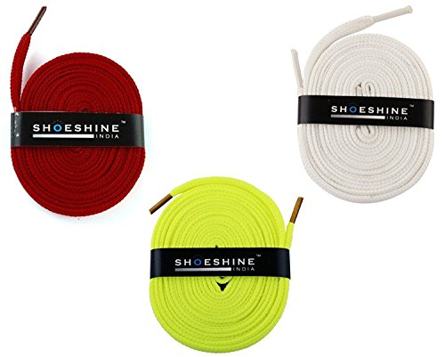 Flat Shoes Laces - 3 Pair Set for Sport  available at amazon for Rs.149