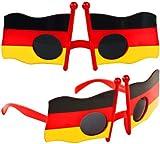 Nick and Ben Fan-Brille Deutschland-Fahne WM Russland 2018 EM Flagge Fußball-Sonnenbrille
