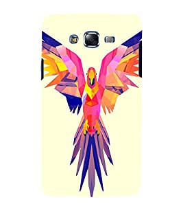 printtech Nature Bird Parrot Vector Back Case Cover for Samsung Galaxy J1 / Samsung Galaxy J1 J100F