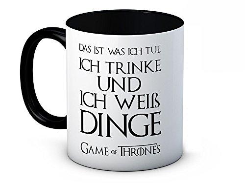 Ich Trinke Und Ich Weiß Dinge (Das ist was ich tue) - Tyrion Lannister - Game of Thrones - Hochwertige Kaffeetasse
