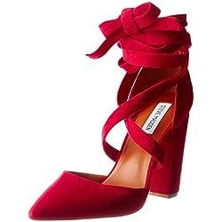 Steve Madden Damen Byrony Schließe Toe Pumps, Rot (Red), 38 EU