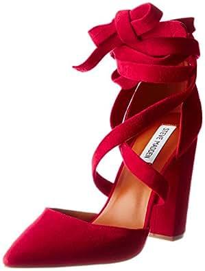 Steve Madden Damen Byrony Schließe Toe Pumps, Rot (Red), 36 EU