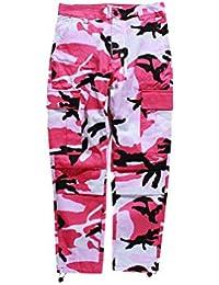 0e2779b5f6443 MEIHAOWEI Pantalones Chándal Hombre Mujer Pantalones Rosa Gris Pantalones  Traje Pantalón Invierno Pantalones Camuflaje Hip Hop