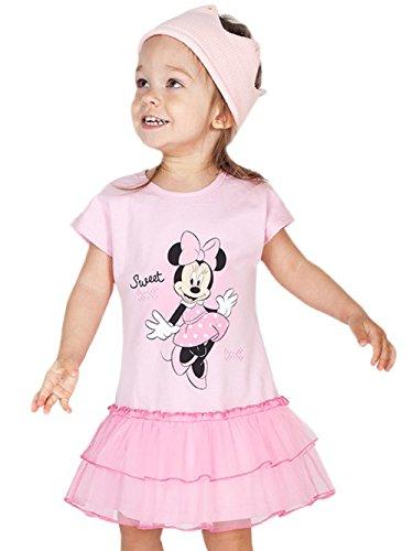 e Baby-/Mädchen-Kleid in GRÖSSE 68, 74, 80, 86, 92, mit Tüll-Rock, leicht, KURZ-ARM, ideales Strand-Kleid, Freizeit-Kleid oder SOMMER-KLEID, TÜLL-KLEID Größe 68 (Minnie Maus Kostüm Für 2 Jährige)
