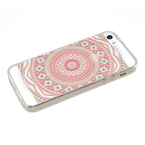 Coque iPhone SE 5 / 5S , IJIA Ultra-mince Transparent Chatons Mignons Gris Noir TPU Doux Silicone Bumper Case Cover Shell Housse Etui pour Apple iPhone SE 5 / 5S XX29