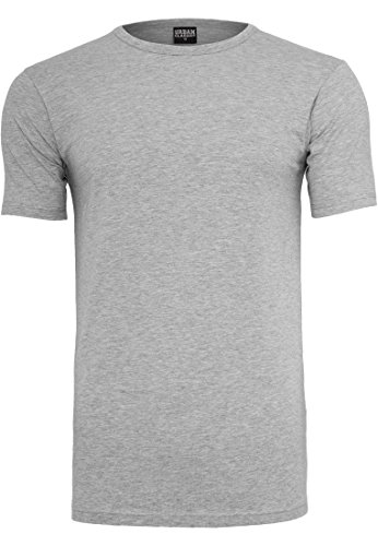 URBAN CLASSICS - Fitted Stretch Tee (grey), Gr. M -