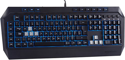 AmazonBasics - Gaming-Tastatur, mechanische Haptik (QWERTY Layout)