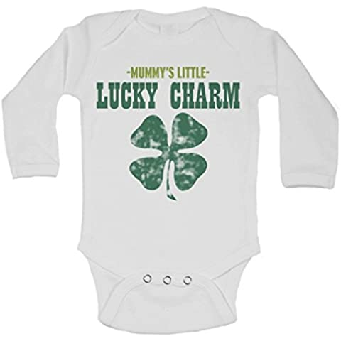 Mummy de la Little Lucky Charm–personalizado manga larga Bebé chalecos de bodies para bebé–unisex (niños, niñas)–Color