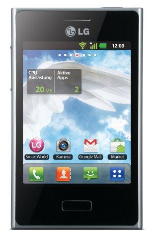 LG E400 Optimus L3 Smartphone (8,1 cm (3,2 Zoll) Touchscreen, 3 Megapixel Kamera, microSD-Slot, Android 2.3) schwarz Lg Wireless Radio