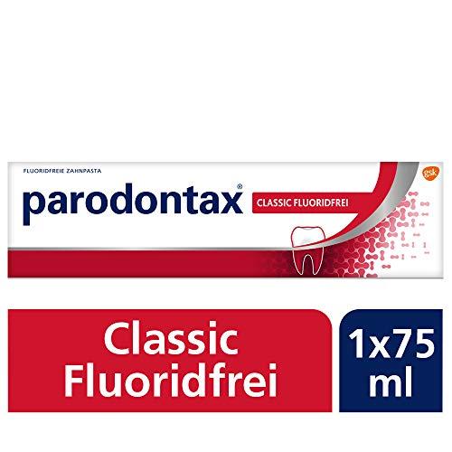 Parodontax Classic Fluorid Zahnpasta, 1x75ml, hilft Zahnfleischbluten zu reduzieren und vorzubeugen -