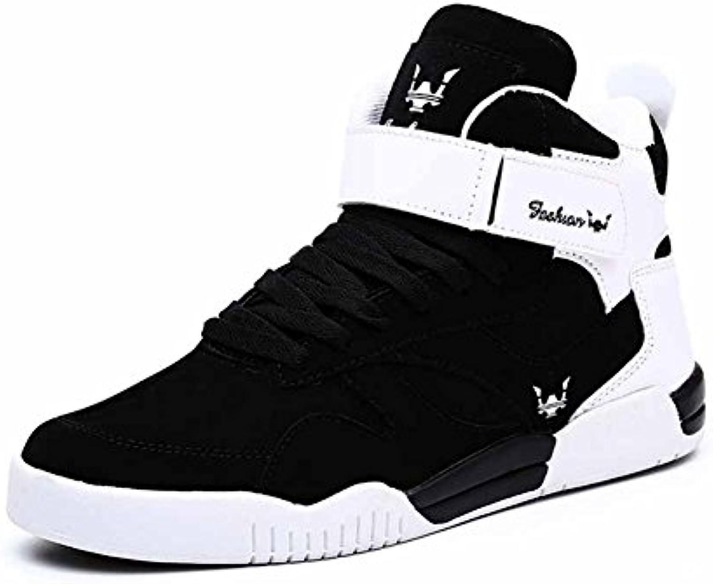 GLSHI Hombre Hi-Top Sneakers New Casual Street Skateboard Shoes Inglaterra Zapatos para caminar de gran tamaño...