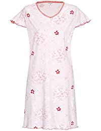 Nachthemd Damen Schlafhemd Damen Sleep Shirt aus 100% Baumwolle Gr. S M L XL