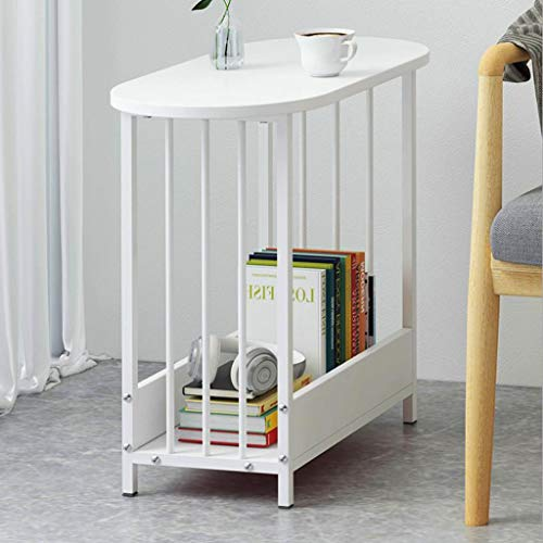 T-Day Beistelltische Nachttisch Tische Couchtisch Doppelter Tisch Tisch mit Couchtisch, Einfach zu montieren Doppeldecker, Für Wohnzimmer, Schlafzimmer, Balkon (Color : C) -