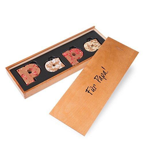 PAPA - Schokobuchstaben Vollmilch - mit Früchten und Nüssen   Vater Geschenk   Vatertagsgeschenk   Geschenkidee   Geschenke für Papa   Schoko   Schokolade   Vati   Papi