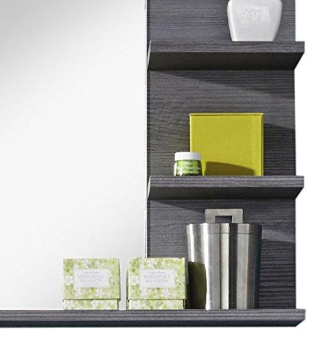 trendteam MI40121 Badezimmerspiegel mit Ablage Rauchsilber Nachbildung, BxHxT 72 x 57 x 17 cm - 5