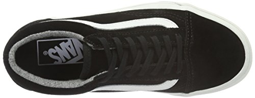 Vans Old Skool, Baskets Basses Mixte Adulte Noir (varsity Suede)