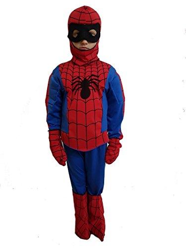 Novità vestiti carnevale travestimento maschera cosplay halloween gioco personaggio bimbo bambino ragazzo film uomo ragno spiderman avengers super eroe tg 3 anni