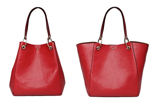 Coofit Sac à main, sac femme cuir Sac bandoulière femme Cabas femme sac portes epaule Rouge