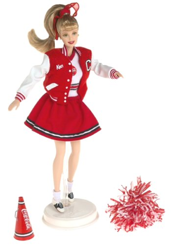 Barbie Collectables, Coca Cola Series: Cheerleader - Cheerleader-barbies