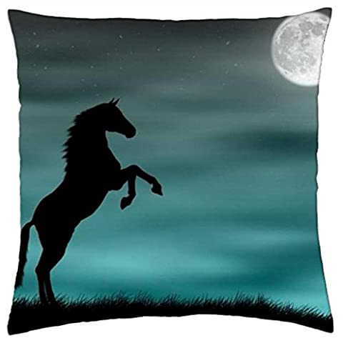 iRocket - Midnight Horse - Throw Pillow Cover (24