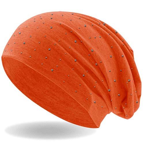 Hatstar XXL Flap Long Beanie Slouch Mütze Damen Herren Wintermütze Skimütze (neon orange)