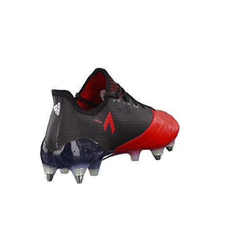 adidas Ace 17.1 Leather Sg, pour les Chaussures de Formation de Football Homme, UK Noir (Negbas/ftwbla/rojo)