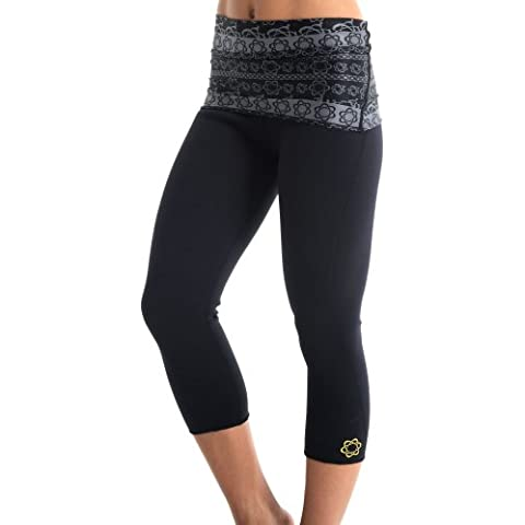 Pantaloncini da donna atomica Capri Leggings, donna, Atomica, Printed Black/Grey, M