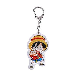 Christ For Givek One Piece Luffy, Karikatur-Anime-Acryl Keychain transparentes Spielzeug-Geschenk Nette Verzierungen(H02)