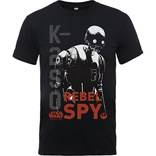 Star Wars T Shirt Rogue One K2S0 Rebel Spy Distressed offiziell Kids Nue
