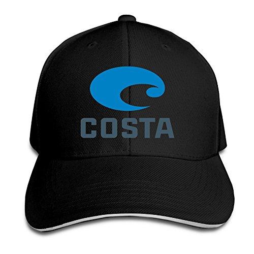 Costa Del Mar verstellbar Baseball Cap Erwachsene, Herren, schwarz -