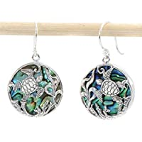 Buelgma Beautiful Abalone Shell Earrings Turtle Seaweed Flower Creative Wild Drop Earring For Women Girl Gift Party Vacation