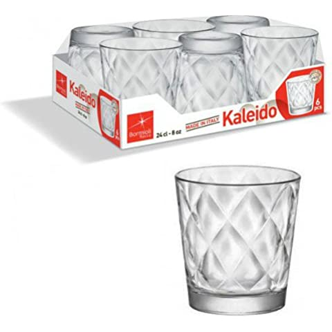 Bormioli Kaleido Confezione Bicchieri, Vetro, Trasparente, 8 x 8 x