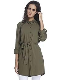 VERO MODA Damen Bluse Vmblossom L/S Long Shirt D2-3