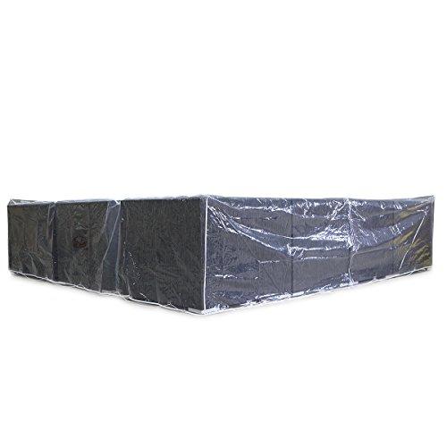 Abdeckplane für Gartenmöbel XL - transparent - 3 x 3 m Abdeckung Abdeckhaube Haube Schutzhülle Hülle Garten Gartenausstattung von Jet-Line