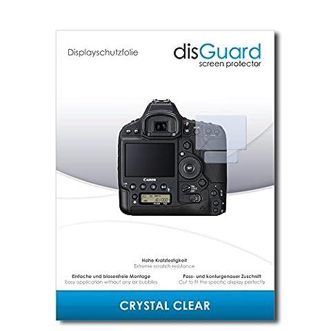 2 x disGuard® Displayschutzfolie Canon EOS-1D X Mark II Schutzfolie Folie
