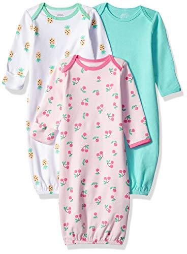 Amazon Essentials 3-Pack Sleeper Gown nightgowns, Girl Fruit, 0-6M Kleidung Sleeper