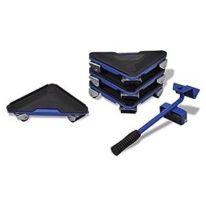 Kit de déplacement de meuble, 1 levier et 4 coins roulantspas cher