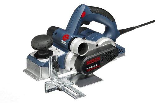 Bosch Professional GHO 40-82 C, 850 W Nennaufnahmeleistung, 82 mm Hobelbreite, 0 – 4,0 mm Spandicke einstellbar, Falztiefenanschlag, Koffer