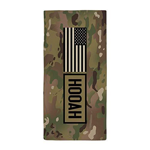 RGFJJE Strandtücher Handtücher U.S. Army: Hooah (Camo) - Large Beach Towel, Soft 31x51 Towel with Unique Design