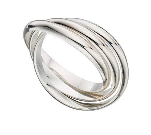 Russischer Ehering Sterling-Silber 925 3-teilig Ringgröße 50 mm R236-K (Russische Eheringe)