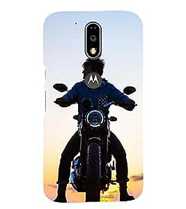 PRINTSOPPII BIKE Back Case Cover for Motorola Moto G4 Plus