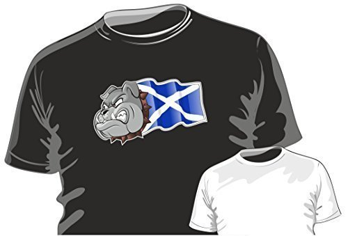 T Flagge Britische Shirt (Britisch Bulldogge Design mit Schottland Schottische Andreaskreuz Flagge Motiv t - shirt top t-shirt by CTD - Herren, Schwarz, XX-Large / 47)