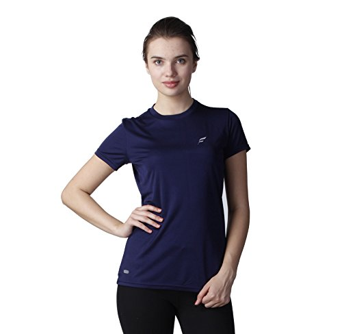 WOMENS SPORTS DRIFIT ROUND NECK GYM T-SHIRT (NAVY-M)