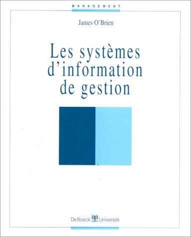Les systèmes d'information et de gestions