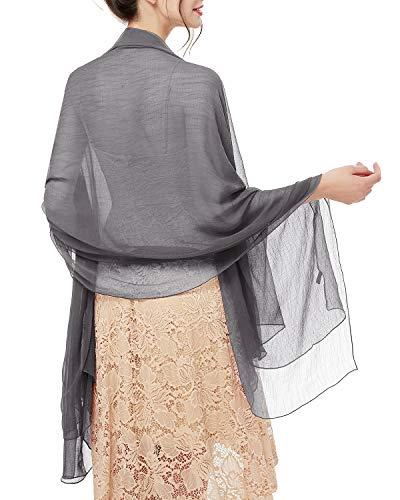 bridesmay Damen Strand Scarves Sonnenschutz Schal Sommer Tuch Stola für Kleider in 29 Farben Brown Damen-sonnenschutz