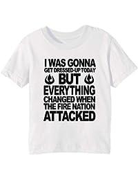 Blame The Fire Nation! Niños Unisexo Niño Niña Camiseta Cuello Redondo Blanco Manga Corta Todos