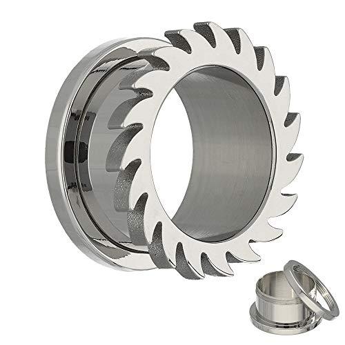 Treuheld Flesh Tunnel - Stahl - Silber - Kreissäge 2 mm